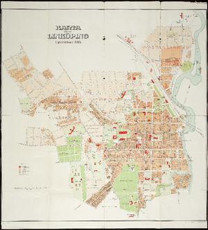 Alvin Karta fver Linkping upprttad 1914